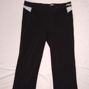 Fila Sport Athletic Black Workout Pants Size Large